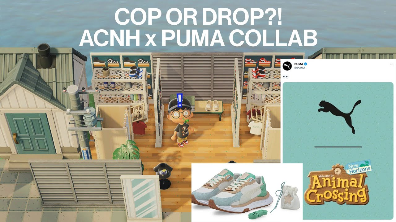 NEW ACNH COLLAB! Sneakerhead's Thoughts On ACNH x PUMA Sneakers // Animal Crossing New Horizons