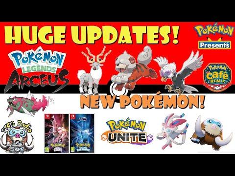 HUGE Pokémon Updates! Arceus, Gen 4 Remakes, Go, Unite! NEW Pokémon! Mamoswine! (Pokémon Presents)