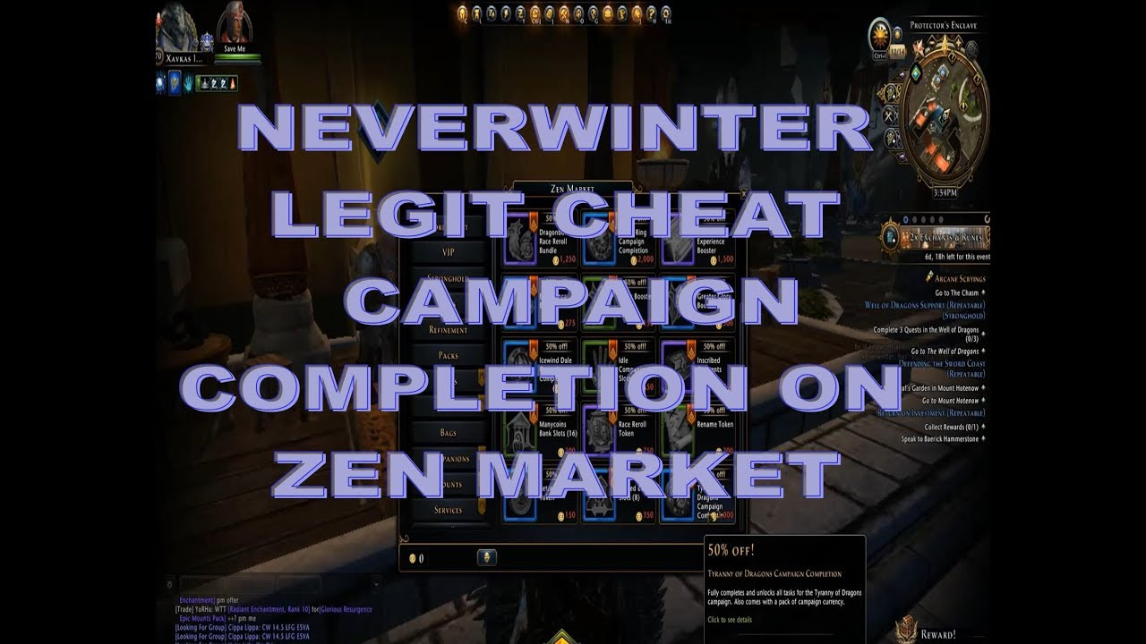 Neverwinter What HAPPENS WHEN YOU BUY A CAMPAIGN COMPLETION