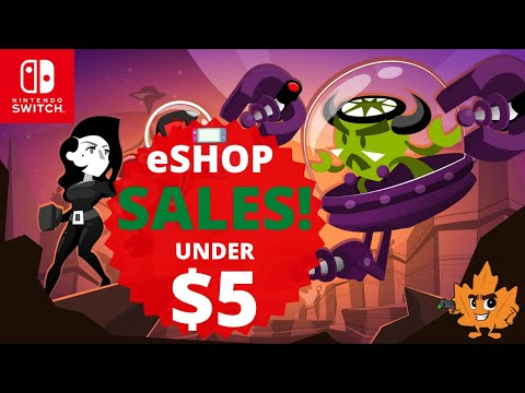 GREAT Nintendo Switch eSHOP DEALS UNDER $5 ON NOW, SEPTEMBER 2021 AMAZING Switch eSHOP SALE!!