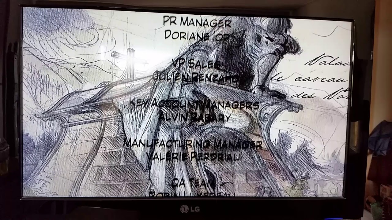 In-game Credits from Syberia (Nintendo Switch retail version)